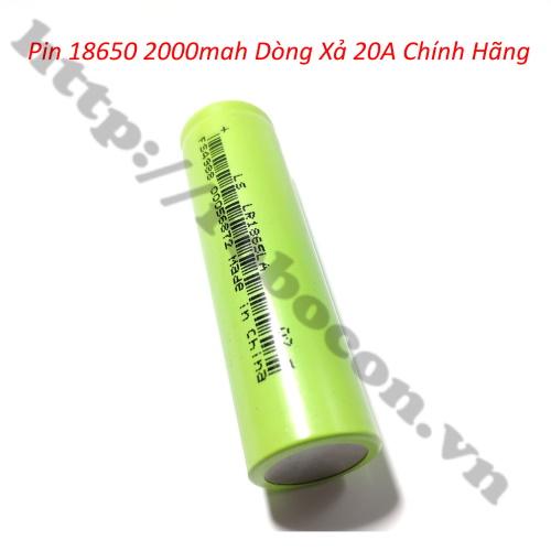 PPKP209 Pin Lishen 18650 2000mAh Dòng Xả 20A Chính Hãng
