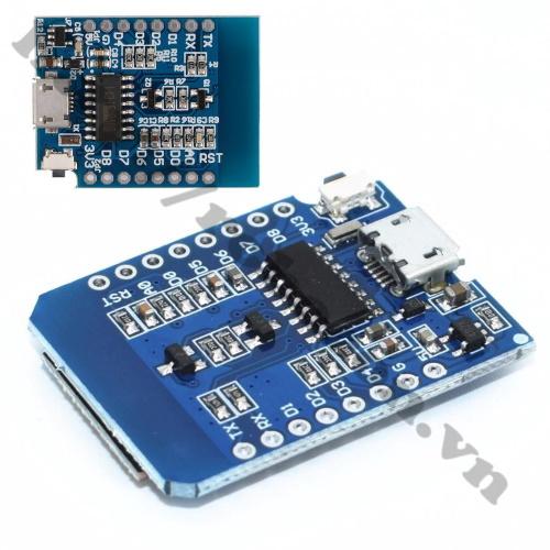 Mặt Sau Của Module Kit RF Thu Phát Wifi ESP8266 NodeMCU Lua D1 Mini