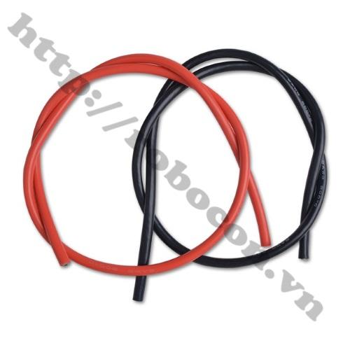 Dây Điện Silicone Đỏ 22AWG loại dây đỏ, đen