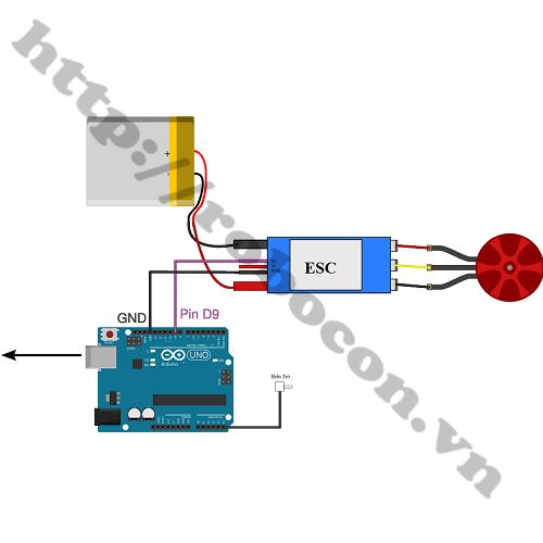 MDL171 Mạch Điều Khiển Tốc Độ Động Cơ 3 Pha ESC 40A