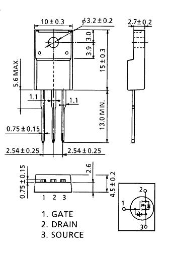 Sơ đồ chân và kích thước K2996