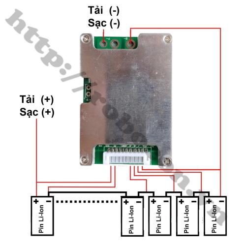 PPKP218 mạch sạc và bảo vệ pin li-ion 10S 36V 50A