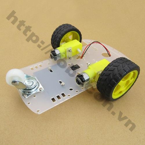 LKRB25 Bộ khung xe robot 3 bánh 1 tầng - Mica (loại 2)