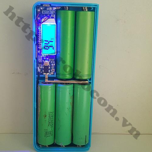 PPKP14 Box Sạc Dự Phòng 5 Pin Vỏ Nhựa