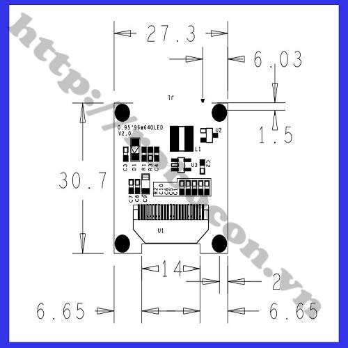 LCD05 Màn Hình Oled trắng 0.96 inch