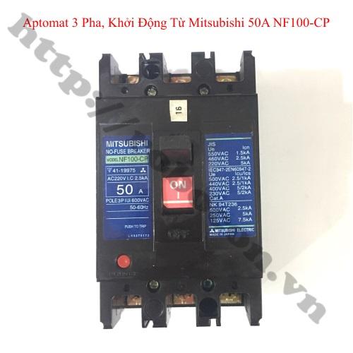 PKK1149 Aptomat 3 Pha, Khởi Động Từ Mitsubishi Nội Địa Nhật 50A NF100-CP