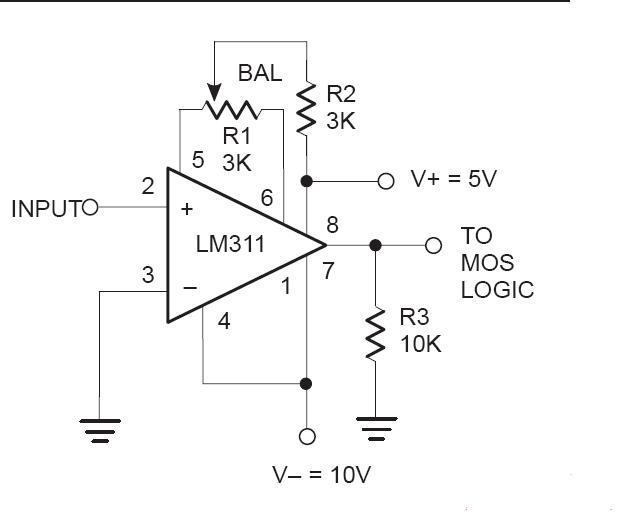 Mạch so sánh áp dùng LM311