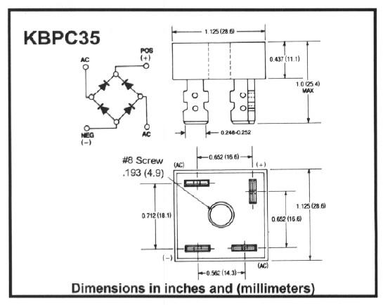 Sơ đồ cấu tạo Diode KBPC3510
