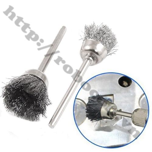 Ứng dụng chổi đánh bóng đánh rỉ cho máy khoan trục 3mm