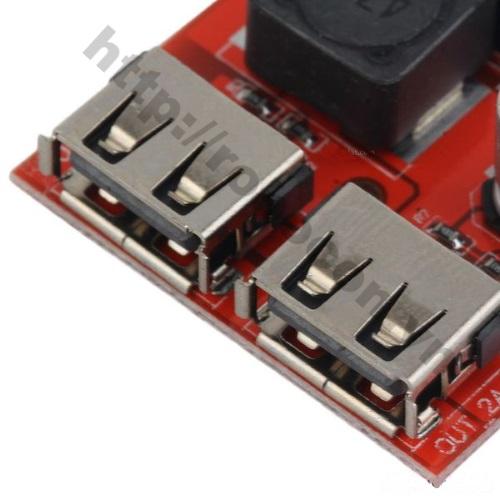 MDL112 Module Mạch Buck Hạ Áp 9V-12V-24V Xuống 5V Cổng 2 USB
