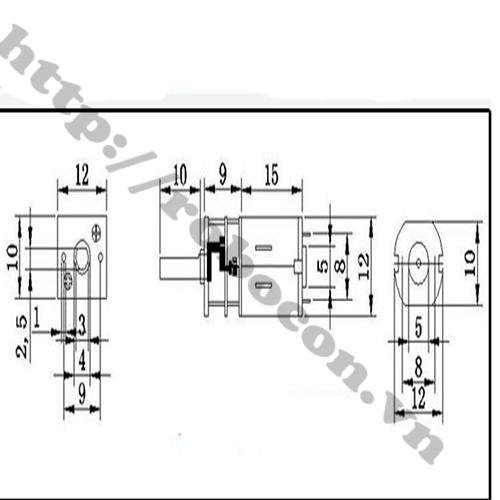 LKRB84 Động Cơ GiảmTốc GA12-N20 (3-12V)