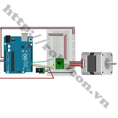 MDL173 Module Điều Khiển Động Cơ Bước A4988 sử dụng với arduino để điều khiển động cơ bước