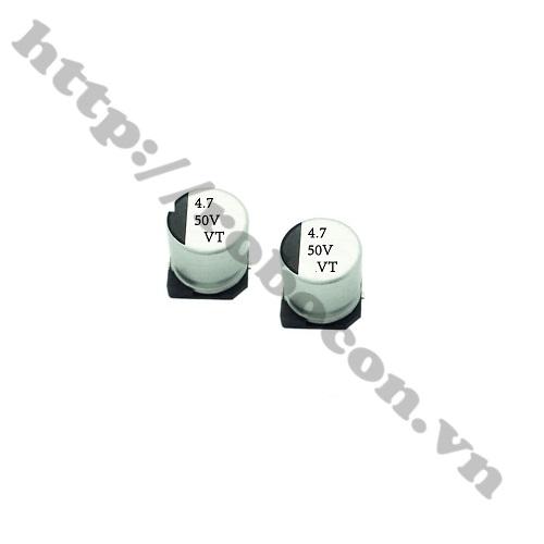 Tụ Nhôm 4.7UF 50V 4x4.5 MM