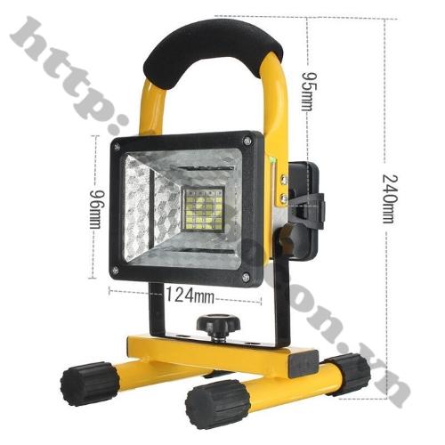 CBM128 Đèn Led Tích Điện Để Bàn Siêu Sáng 30W Kèm Nguồn Adapter Và 3 Pin