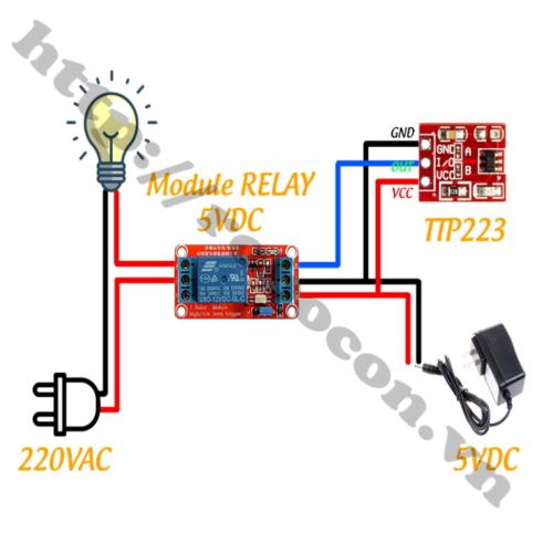 Ứng dụng module cảm biến 1 chạm TTP223 mini đỏ