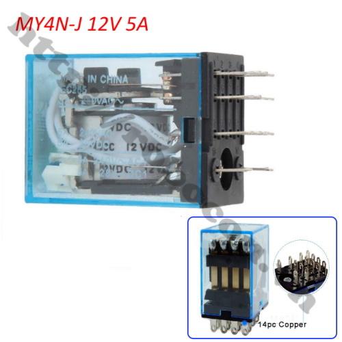 RE32 Relay Trung Gian MY4N-J 12V 5A 220VAC 14 Chân