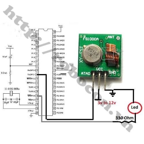 Module Thu Phát RF 433Mhz