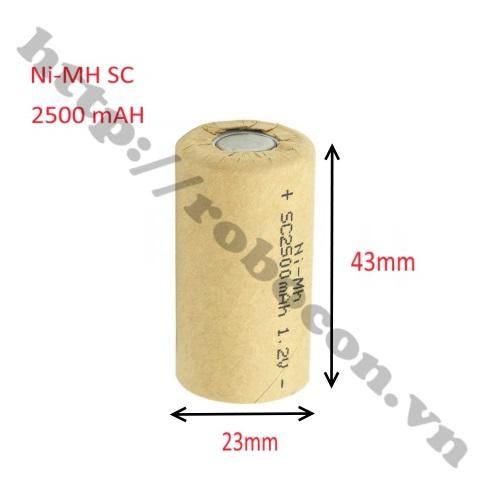 PPKP265 PIN SẠC NI – MH SC 2500MAH 1.2V