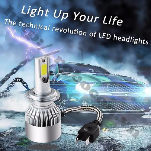 LED82 Đèn Pha Led Xe Máy H7 (1 Cặp)