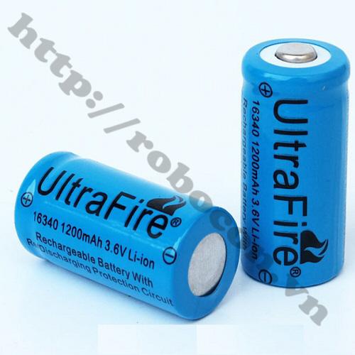PPKP03 Pin Sạc 3.6V Li-Ion Ultrafire 16340-1200mah