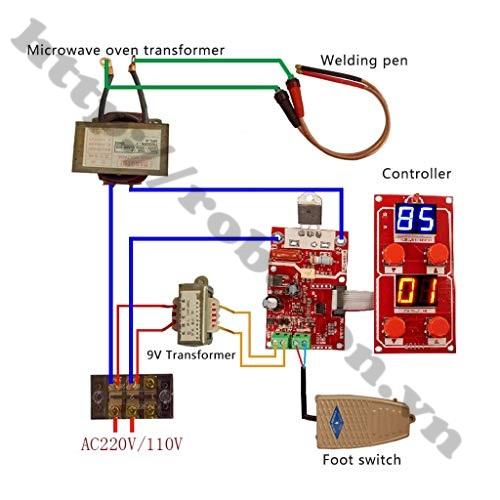 MDL310 Mạch Timer Điều Chỉnh Dòng, Điện Áp Máy Hàn Cell Pin Có Nút Nhấn Xung Kép 41A