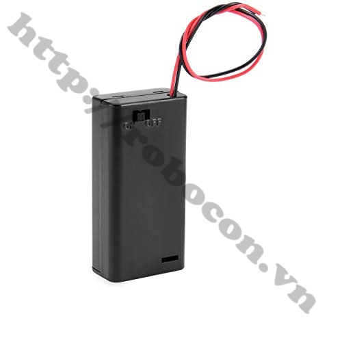 Đế Pin AA 2 PIN tích hợp công tắc gạt i7H16