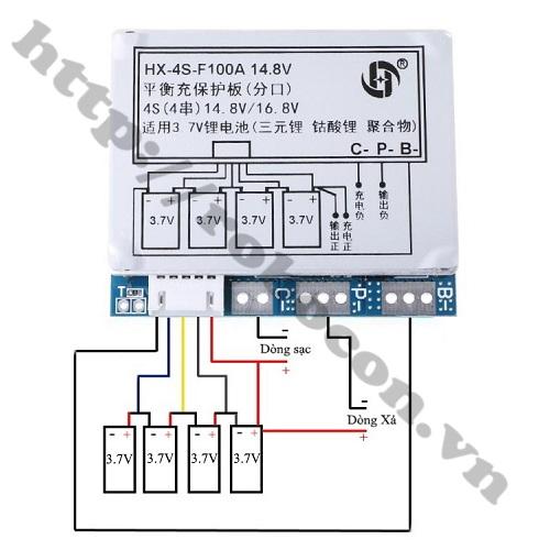 PPKP59 Mạch Sạc Và Bảo Vệ Pin 14.8V-4S-100A (Loại Xịn)