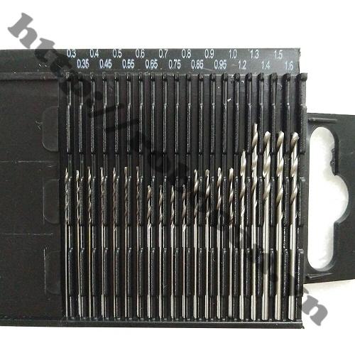 PKK320 Bộ 20 Mũi Khoan Kim Loại HSS Mini Cao Cấp 0.3-1.6mm