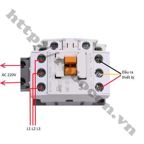 Đấu Nối Khởi Động Từ LS Contactor MEC GMC-22