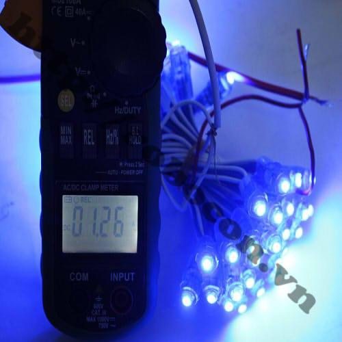 LED104 LED Đúc Phi 5mm Đế 8mm Màu Xanh Dương
