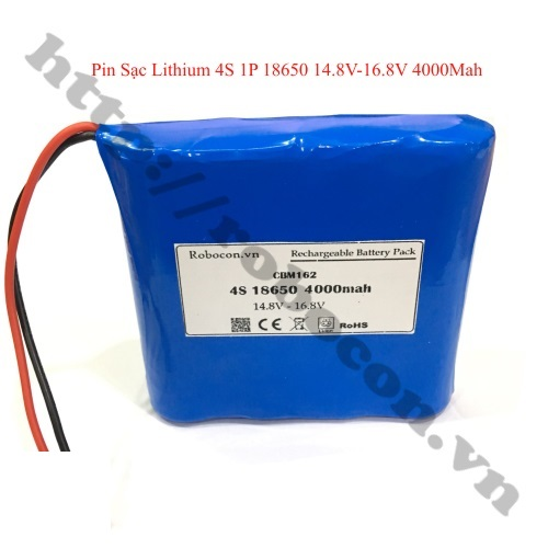 CBM162 PIN SẠC LITHIUM 4S 1P 14.8V – 16.8V 4000MAH CHO LOA BLUETOOTH