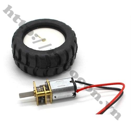 LKRB101 ĐỘNG CƠ GIẢM TỐC MINI N20 3-6V TỐC ĐỘ 52-104 RPM