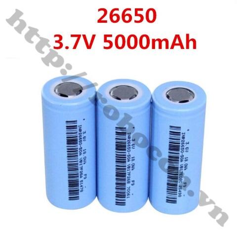 PPKP74 Pin Sạc Dung Lượng Cao 26650 3.7V 5000mAh