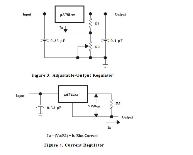 Sơ đồ kết nối đơn giản 78L05