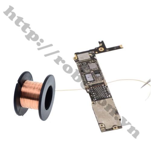 Dây câu mạch, dây hàn mạch trong các vi mạch điện tử, điện thoại di động, câu từ các adaptor của box vào main máy khi repair boot, repair ổ cứng.
