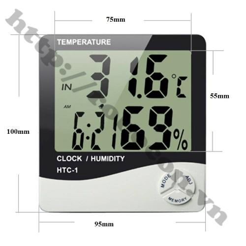 Ẩm kế nhiệt kế treo tường HCT-1