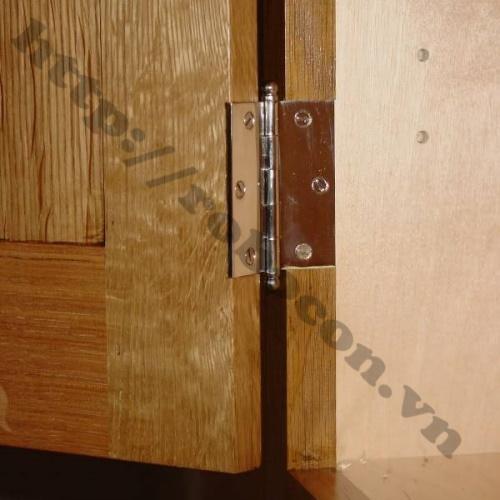 Bản lề lá inox sử dụng thích hợp cho tất cả các loại cửa sổ, cửa đi hai cánh, bốn cánh bằng gỗ