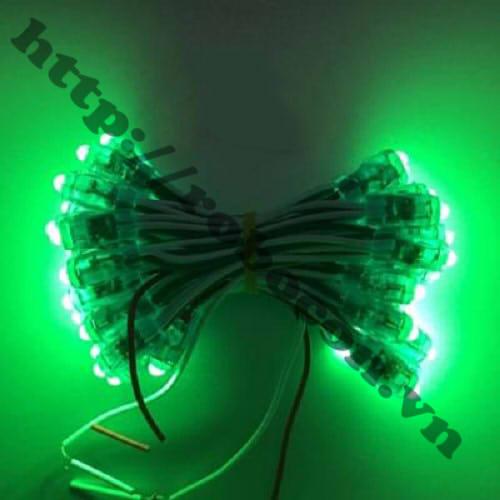 LED103 LED Đúc Phi 5mm Đế 8mm Màu Xanh Lá