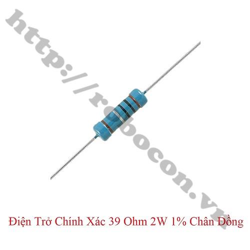 DT270 Điện Trở Chính Xác 39 Ohm 2W 1% Chân Đồng