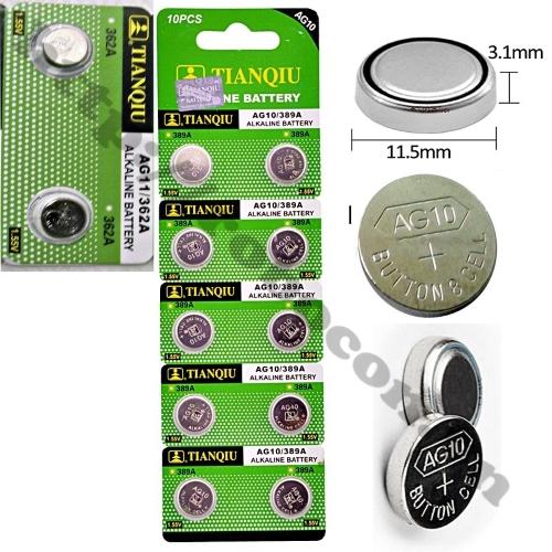 Pin Cúc Áo Alkaline 1.5V AG10/LR1130/389A