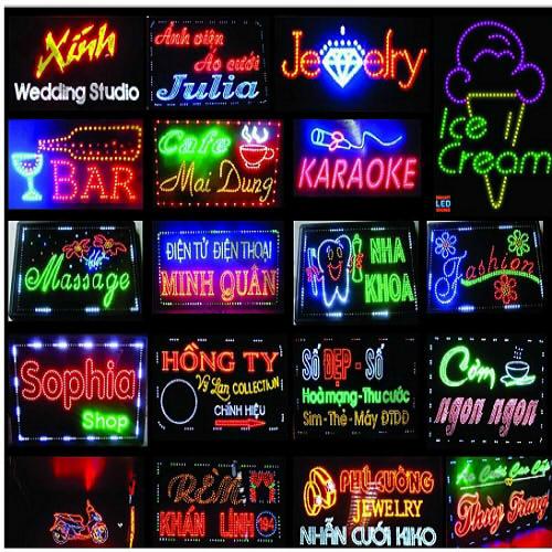 LED91 LED Liền Dây Phi 5 Màu Trắng (100 Bóng) sử dụng trong làm biển quảng cáo