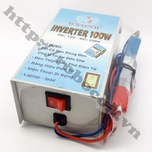 Bộ Chuyển Đổi Điện Inverter 12V Lên 220V 100W