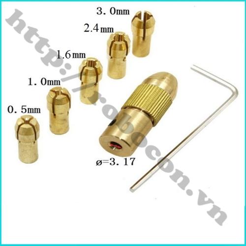 Bộ 5 Kẹp Mũi Khoan 0.5mm Đến 3mm