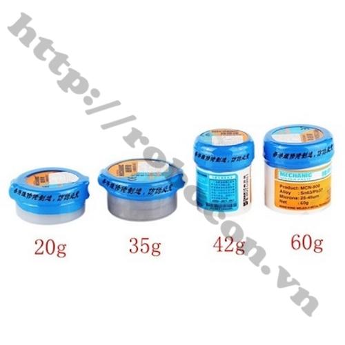 Các loại thiếc bột Mechanic Solder Paste