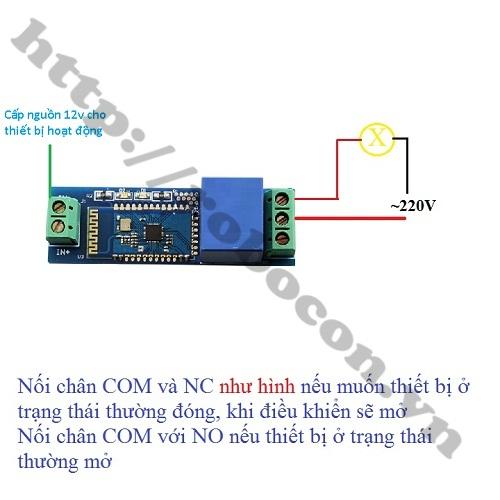 MDL297 Module Relay 12V điều khiển từ xa qua Bluetooth