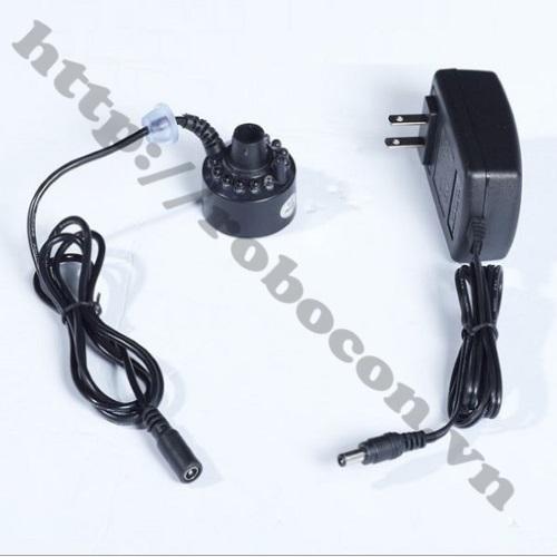 CBM49 Bộ Combo Động Cơ Phun Sương Tạo Độ Ẩm Có LED, Adapter 24V-1A V2