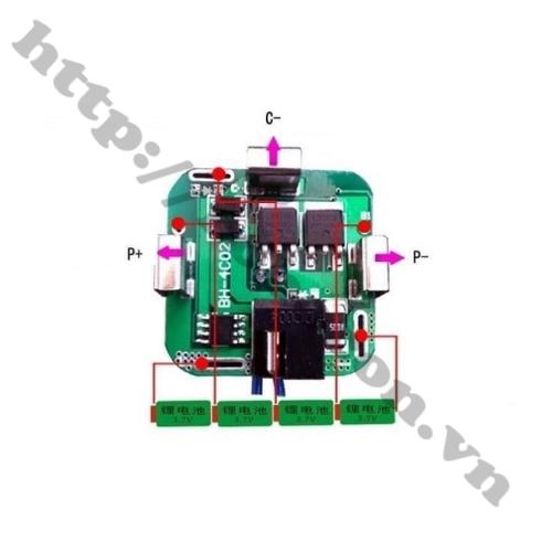 Sơ đồ đấu Mạch Sạc Và Bảo Vệ Pin 4S 14.4V Chế Pin Máy Khoan