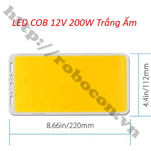 LED144 Đèn Led COB 12V – 14V 200W Trắng Ấm