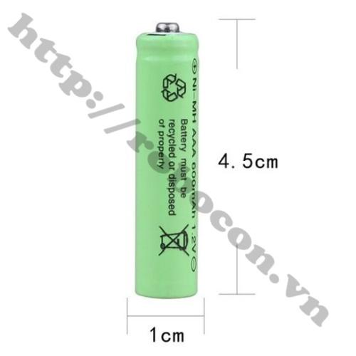 PPKP60 Pin Sạc Ni-Cd AAA 1.2V 600mAh