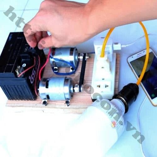 Bộ DIY Chế Máy Phát Điện Mini Từ Động Cơ 775 V2